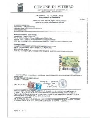 Certificato anagrafico cumulativo